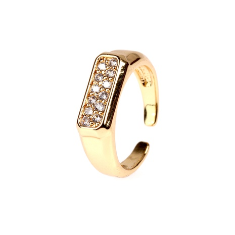 Vente en gros anneau ouvert en zircon micro incrusté de cuivre NHPY334436's discount tags