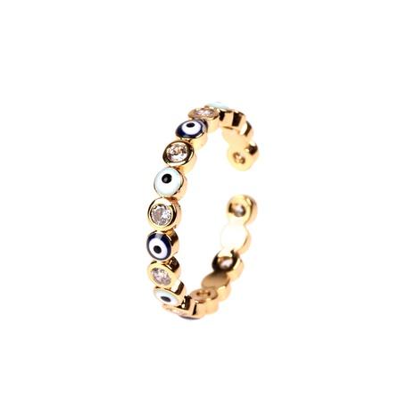 Mode eingelegter Zirkon Augenring NHPY334439's discount tags