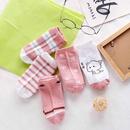 cute cartoon low cut shallow mouth polyester cotton womens socks set NHBF334477