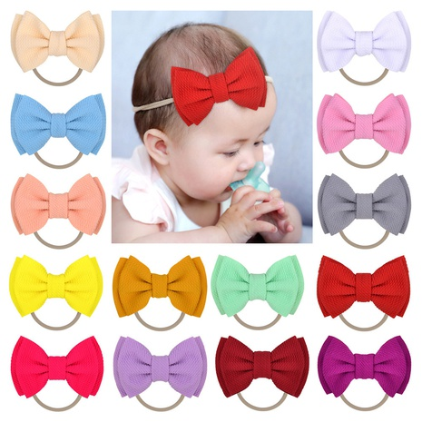 Einfache Doppel Bowknot Kinder Stirnband Großhandel NHMO334573's discount tags