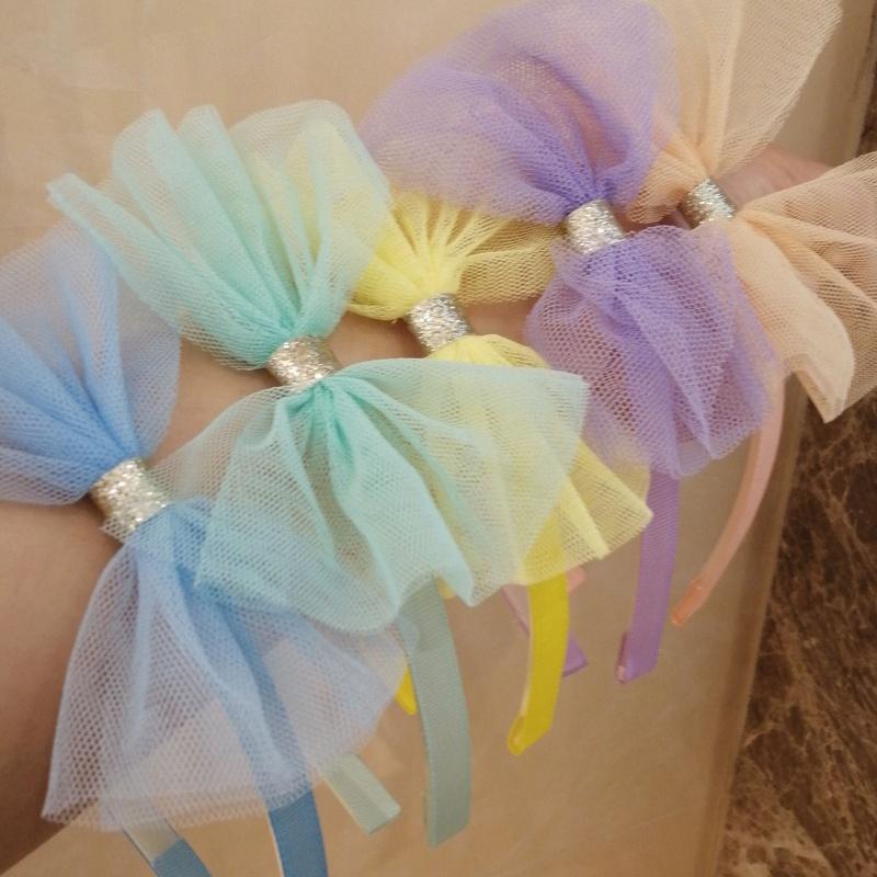 Childrens sweet bow gauze headband NHWB334620