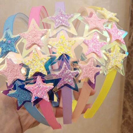 süßes Regenbogen fünfzackiges Stern Stirnband NHWB334623's discount tags