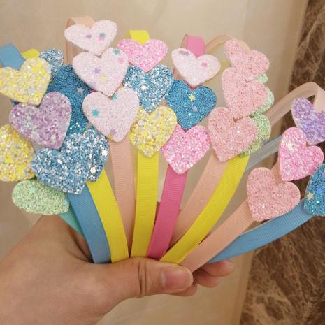 Herzförmiges Haarband aus Pailletten für Kinder mit Pailletten NHWB334627's discount tags