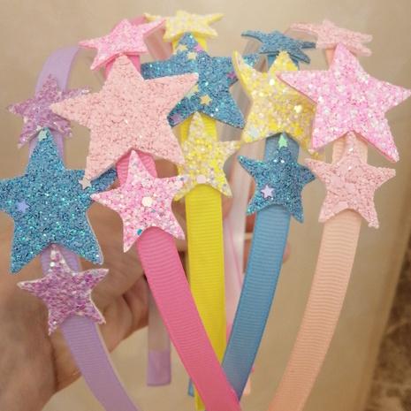 Glitter Pentagram Schmetterling Haarband mit Pailletten für Kinder NHWB334626's discount tags