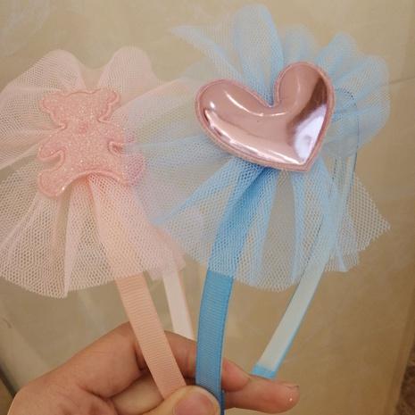 Niedliches Gitterbogenknoten-Stirnband der koreanischen Kinder NHWB334630's discount tags