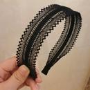 Korea lace wide side hollow headband NHWB334660