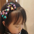 Korean color polka dot rabbit ears headband  NHWB334661