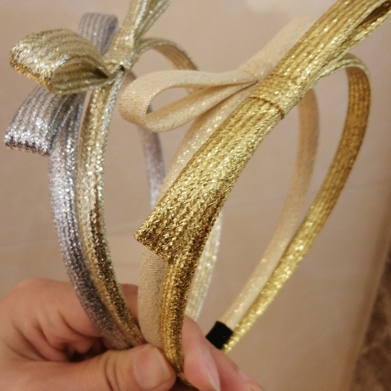Korean simple new gold and silver colored headband  NHWB334662