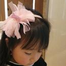 Korean childrens bow net yarn headband NHWB334665