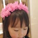 New cute childrens net yarn bowknot pearl headband NHWB334663