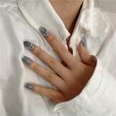Korean dimomd nail ring  NHYQ334757