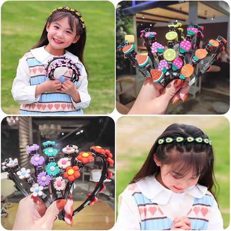 Geflochtenes hohles Blumenhaarband der koreanischen Kinder NHNA334781's discount tags