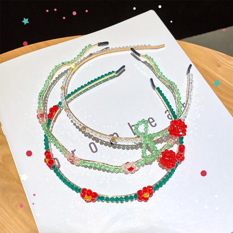 Korea Mode handgewebtes Kirsch Stirnband NHNA334785's discount tags