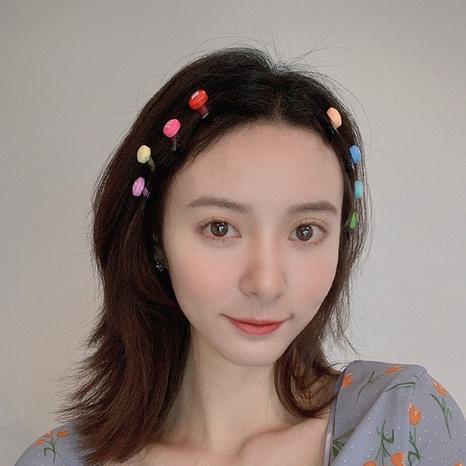 épingle à cheveux lettre M de couleur bonbon à la mode NHNA334786's discount tags