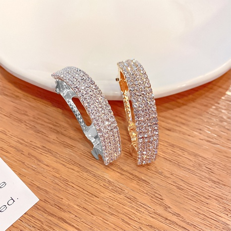 Korean curved rhinestone hairpin NHNA334789's discount tags