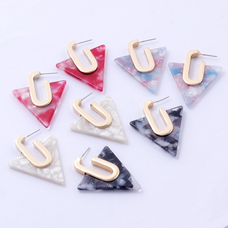 Fashion geometric triangle alloy earrings wholesale NHAYN334904's discount tags