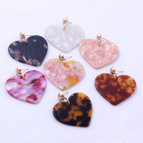 fashion heart-shaped acrylic earrings NHAYN334909's discount tags