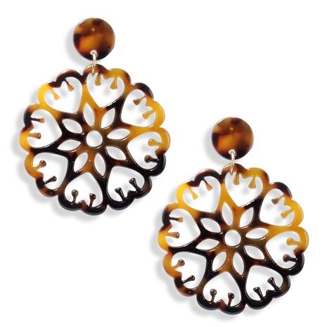 retro geometric hollow acrylic earrings  NHAYN334912's discount tags