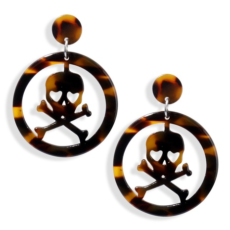 retro round skull earrings  NHAYN334915's discount tags