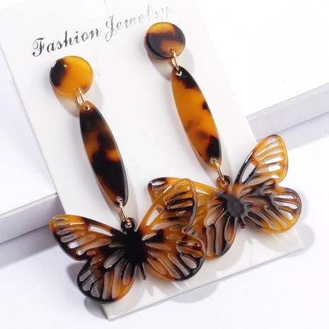 retro hollow butterfly long earrings  NHAYN334926's discount tags