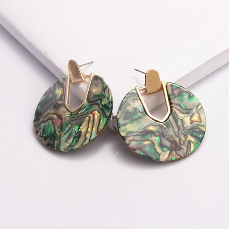 retro round pendant acrylic earrings NHAYN334927's discount tags