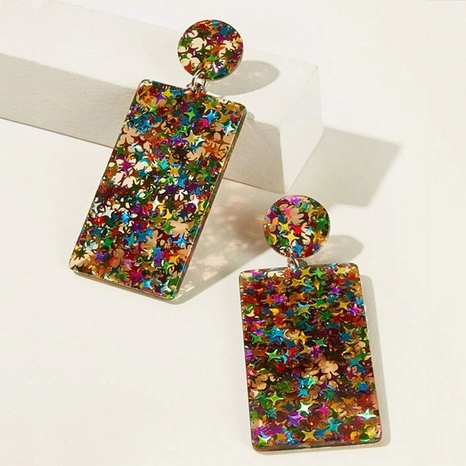 retro square pendent acrylic earrings  NHAYN334939's discount tags