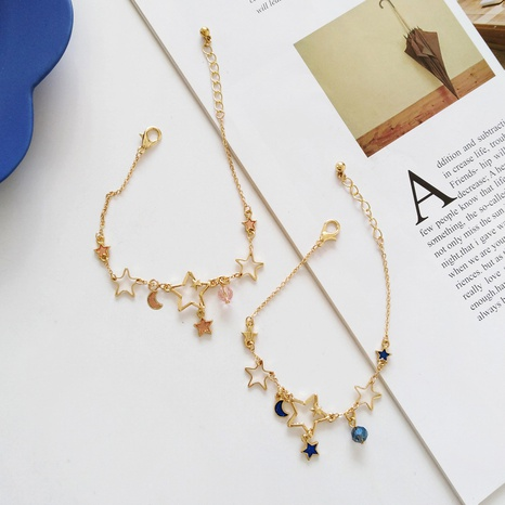 Fashion star moon alloy bracelet wholesale NHBY334984's discount tags