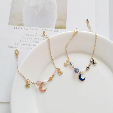 Fashion small star moon pearl alloy bracelet  NHBY334989's discount tags