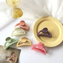 Fashion frosted solid color resin hair clip NHBY335007