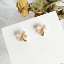 Korea fourleaf flower earrings  NHBY335009