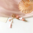 Fashion pink flower tassel kitty hairpin NHBY335015
