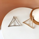 Simple triangle metal hairpin wholesale NHBY335016
