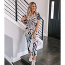 new fashion tiedye printing shortsleeved trouser suit NHJG335051