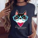 camiseta casual con estampado de dibujos animados NHZN335050