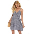 new sexy fashion plaid strap hollow suspender dress NHJG335040