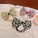 Korea New Floral Bowknot Pearl hair ring NHCQ335102