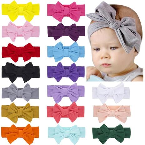 einfarbiges Doppelbogen-Stirnband für Kinder NHWO335112's discount tags