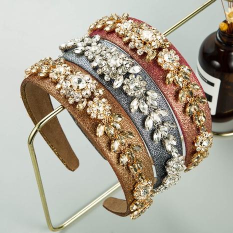 Coiffe de chaîne de fleurs en strass baroque NHLN335121's discount tags