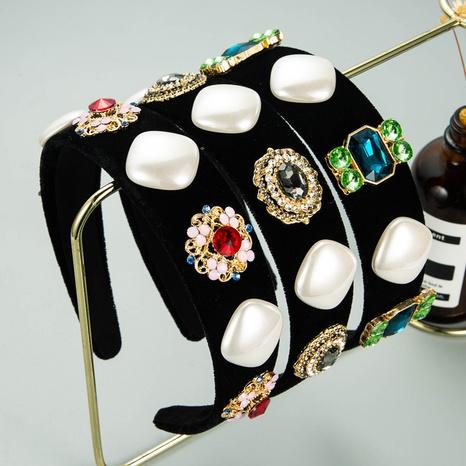 Serre-tête baroque à bord large imitation perle dimond NHLN335122's discount tags