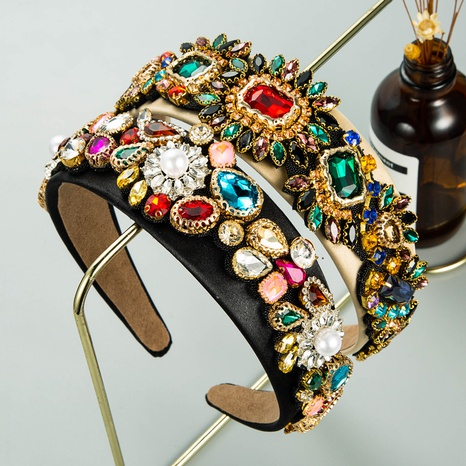 Serre-tête à fleurs en zircon incrusté d'alliage baroque NHLN335123's discount tags