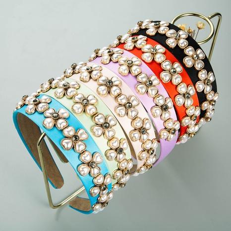 bandeau de perles en tissu de fleurs en forme de cœur baroque NHLN335125's discount tags