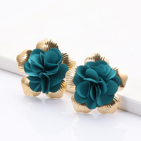 Boucles d'oreilles en tissu de fleurs coréennes en gros NHJJ335126's discount tags