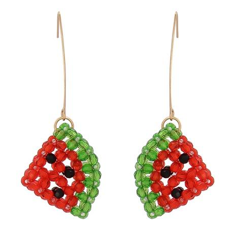 Boucles d'oreilles pastèque en acrylique coréen NHJJ335137's discount tags