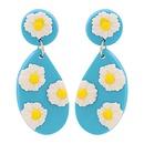 Simple Acrylic Geometric Flower Earrings Wholesale NHJJ335135