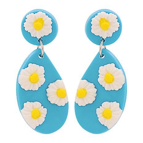 Boucles d'oreilles fleur géométriques acryliques simples en gros NHJJ335135's discount tags