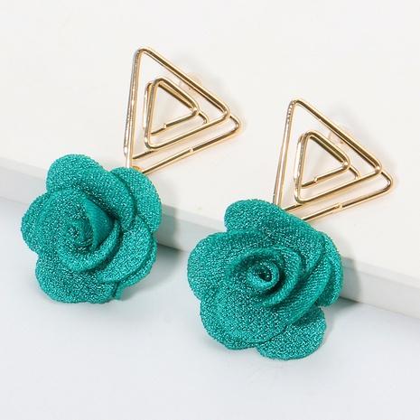 Boucles d'oreilles fleur triangle coréen en gros NHJJ335136's discount tags