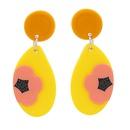 Fashion acrylic geometric flower earrings wholesale NHJJ335134
