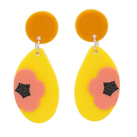 Boucles d'oreilles à fleurs géométriques en acrylique NHJJ335134's discount tags