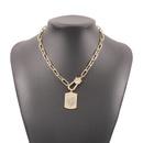 fashion diamond heart square pendant necklace  NHMD335150