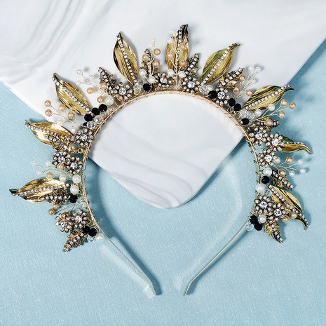 baroque crown flowers hand erected headband NHHS335172's discount tags